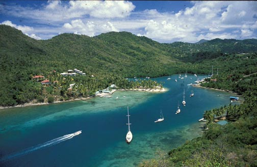 Marigot Bay. Photograph by Mike Toy