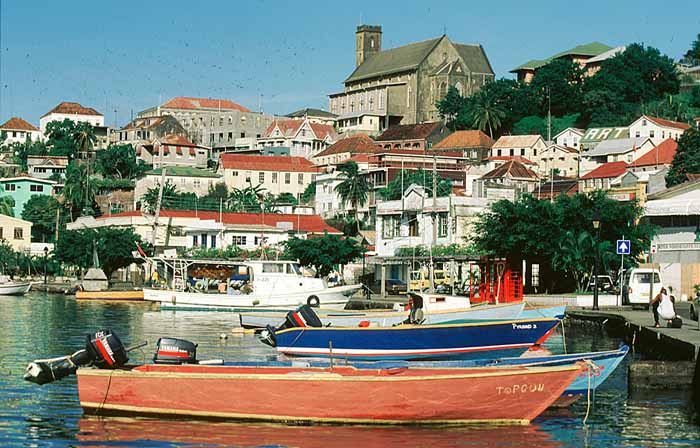 St George's, Grenada's picturesque capital. Photograph by Mike Toy