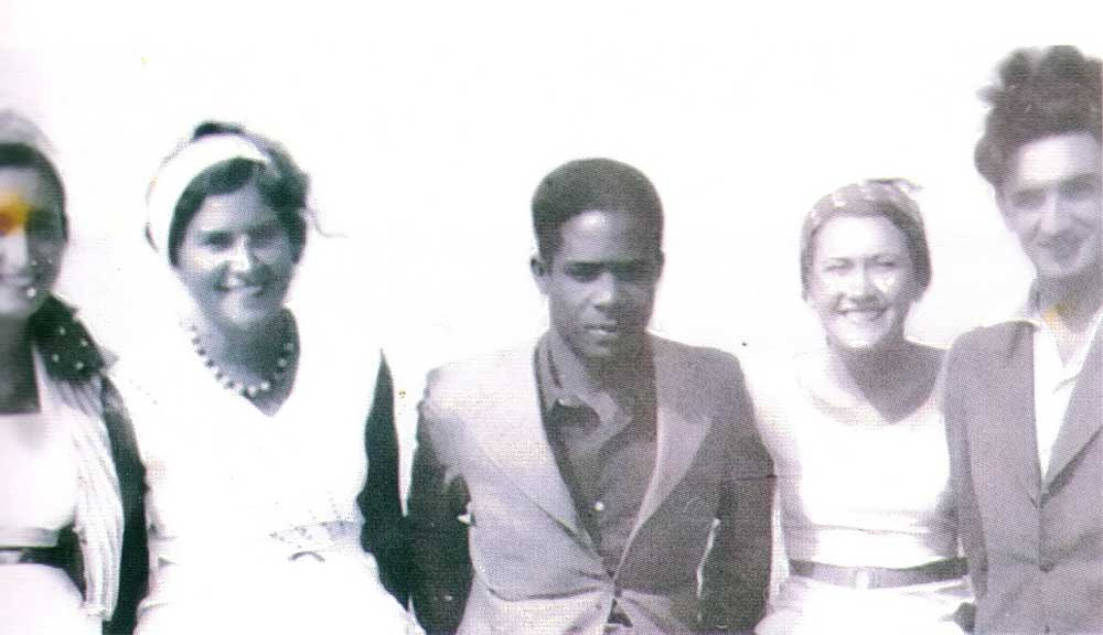 The young Césaire and friends in Yugoslavia in the 1930s, where he worked on his best known book