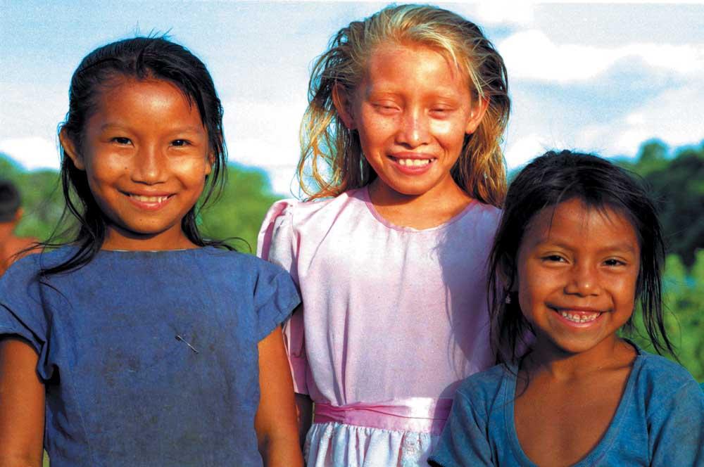 Amerindian children. Photograph by Ian Brierley