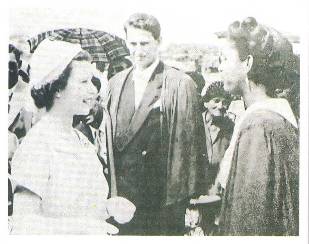The young Queen Elizabeth visits the Mona campus in 1953