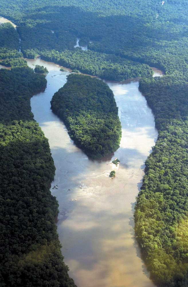 Guyana's many rivers are a distinctive part of the natural landscape. Photograph by Ian Brierley