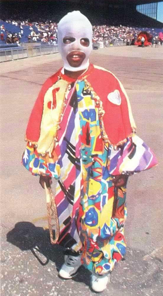 A young masquerader in Toronto's Caribana. Photograph by Robert D Watkins Jr.