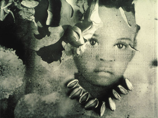 The Cowrie Necklace (1993), silver gelatin print, by Albert Chong