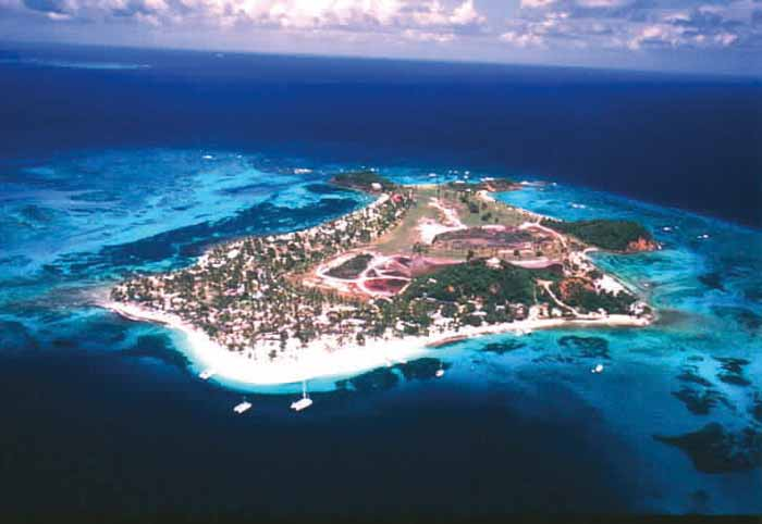 Palm Island, a privately owned resort