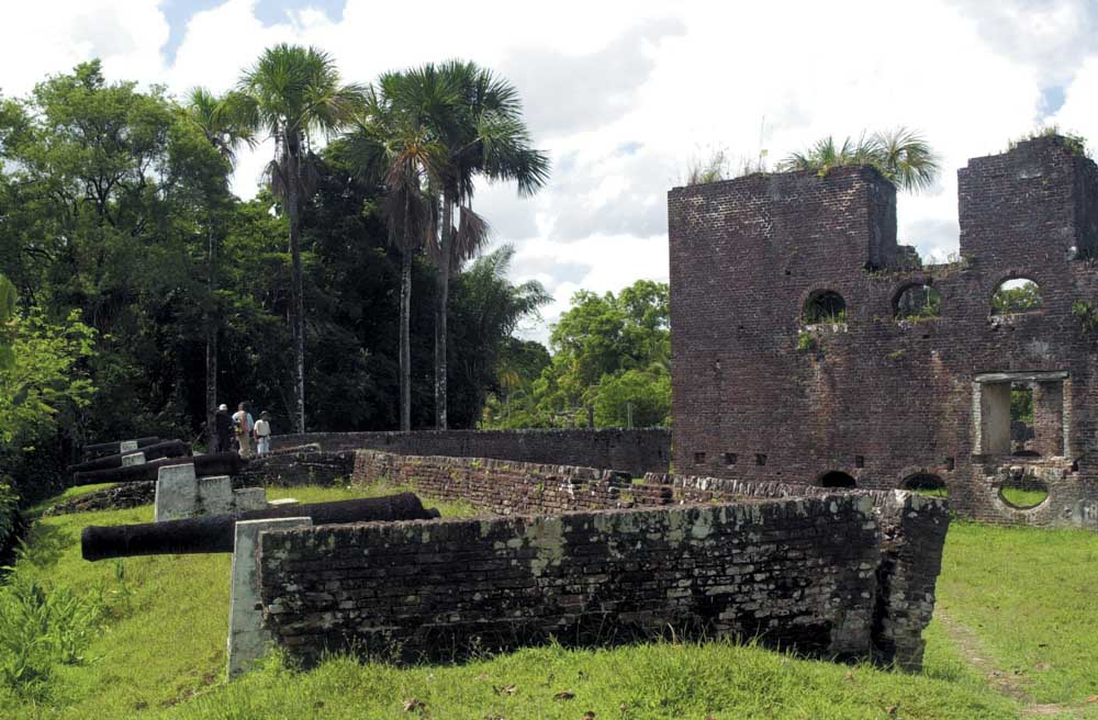 A ruined Dutch for, relic of Guyana's colonial history. Photograph by Ian Brierley
