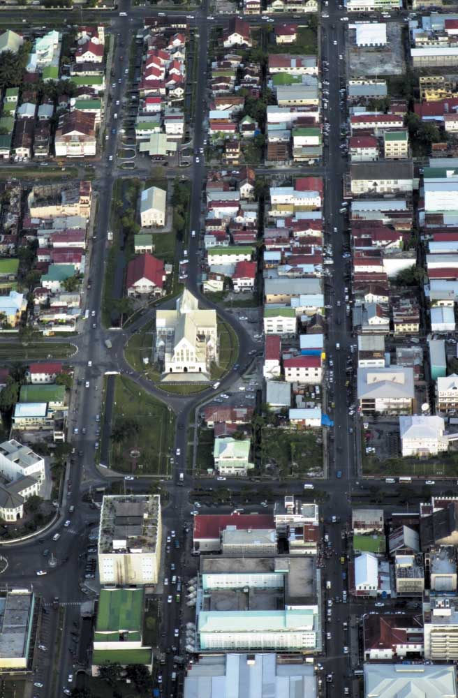 Aerial view of Georgetown. Photograph by Ian Brierley