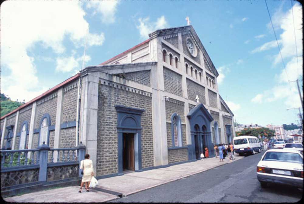 The Cathedral of the Immaculate Conception in Castries. Photograph by Mark Lyndersay