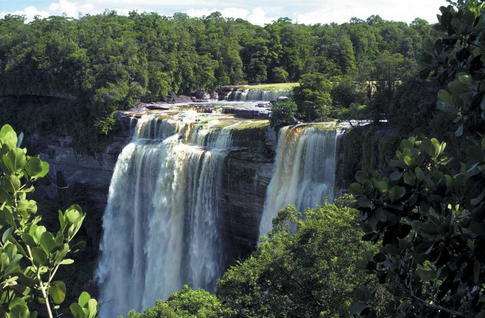 At Kaieteur's Falls. Photograph courtesy the Tourism Hotel Association of Guyana