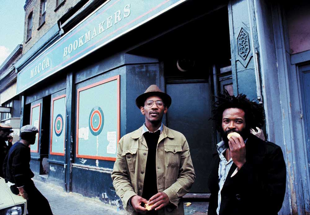 LKJ on the streets of Brixton. Photograph by Urbanimage.tv