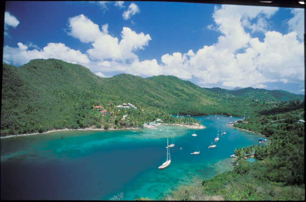 Marigot Bay, a yachtsman's dream. Photograph by Mike Toy