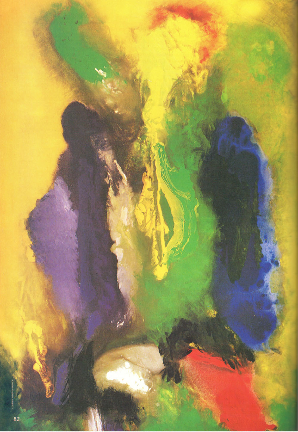 We Are One (1992, acrylic on canvas, 6 x 4 ft,; Sandals Halcyon, St Lucia). Photograph courtesy Winston Branch