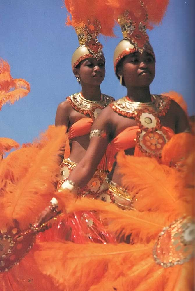 Kadooment, the Carnival-style climax of Barbados's Crop Over festival. Photograph by Eleanor Chandler