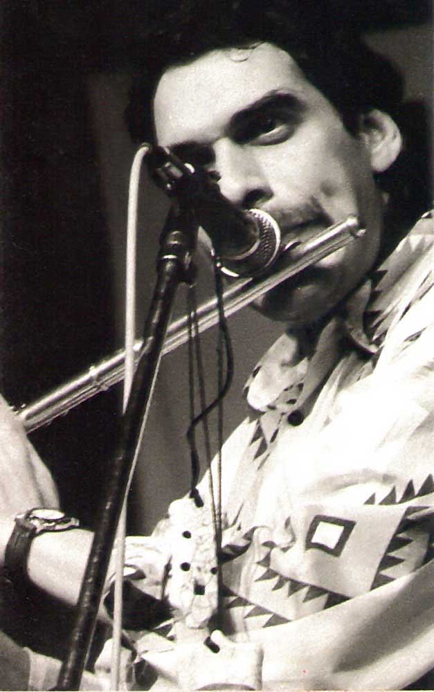 Puerto Rico's flaurist Dave Valentin was a hit at the 1991 Pan Jazz Festival. Photograph by Pan Jazz Secretariat