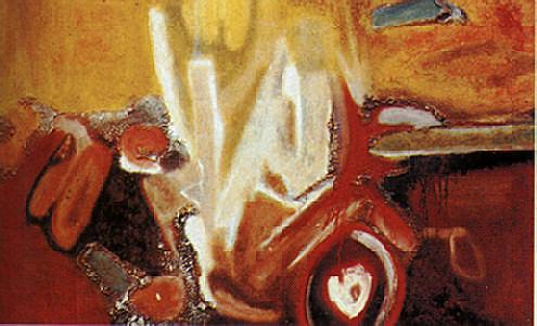 Towakaima (1962, 76 x 178 cm. ) Photograph courtesy the October Gallery, London