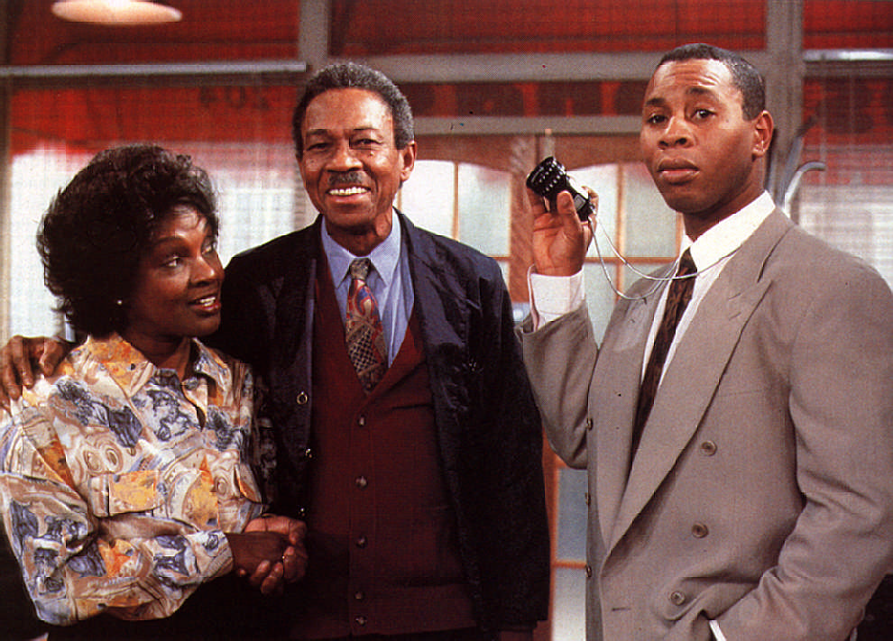 Beaton stars in the TV show Desmond's where Carmen Munroe (left) plays his long-suffering wife