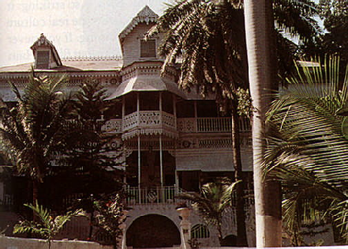 The legendary Oloffson Hotel in Port-au-Prince. Photograph by Jenny Matthews/ Network