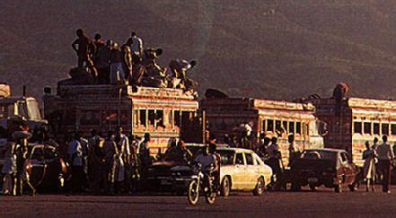 Quicker by bus? Port-au-Prince. Photograph by C. Pillitz / Network