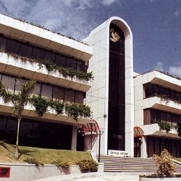 The new Barbados Mutual building overlooks Queens Park Savannah in Port of Spain