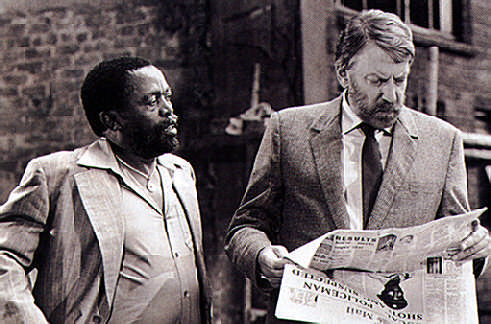 Martinique's Euzhan Palcy directed Zakes Mokae (left) Donald Sutherland (right) and Marlon Brando in a Dry White Season. Photograph by MGM