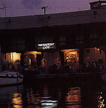 The ever popular Waterfront Café in Bridgetown. Photograph by Eleanor Chandler