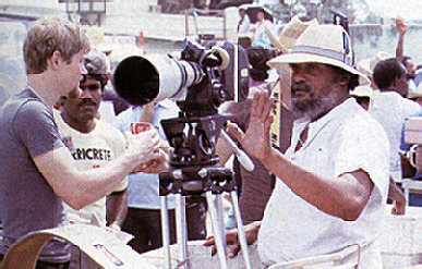 Director at work. Photograph by Bruce Paddington