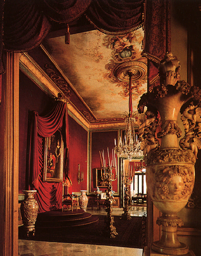 The throne room of El Palacio de los Capitanes Generales was always kept ready for visiting monarchs; it is on the upper floor together with the grand apartments occupied by 65 Captains General of Cuba. Photograph by Martin Charles