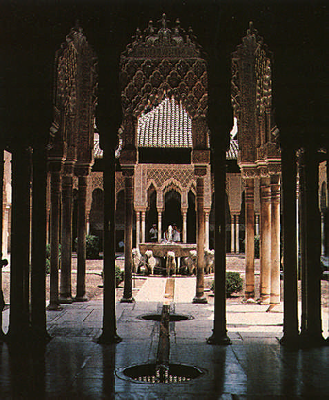 The Patio de los Leones in the Alhambra Palace. Photograph by the Spanish National Tourist Office