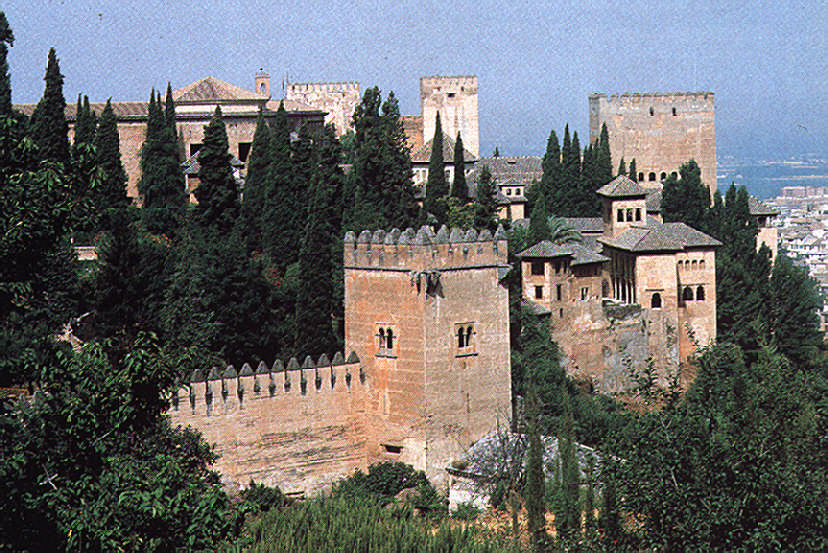 The Alhambra Palace outside Granada, built between 1238 and 1538 (and much altered afterwards), is one of the glories of Spain's Islamic past. But by 1492 Spain was on a crusade to reassert the Catholic faith, not only at home but in the new world. Photograph by Spanish National Tourism