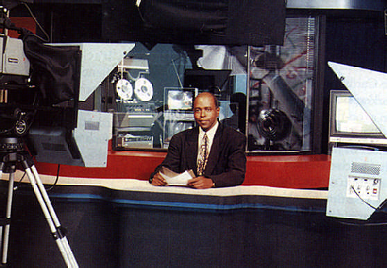 News chief Roy Brown on air. Photograph courtesy CSN