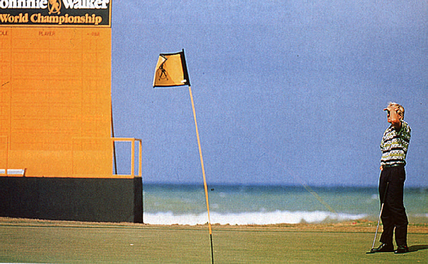 Where did that go? Greg Norman at the 1991 Championship