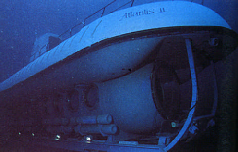 Doing it in comfort: the 28-passenger submarine Atlantis II cruises Barbados's reefs. Photograph by Mike Toy