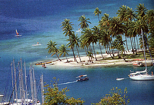 Marigot Bay. Photograph by Chris Huxley