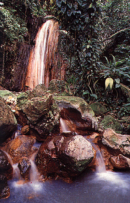Diamond Falls near Soufriére. Photograph by Chris Huxley