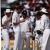 Australians (left to right) Mark Waugh, Ian Healy, Geoff Marsh, Bruce Reid, Craig MacDermott. Photograph by Caribbean Sport