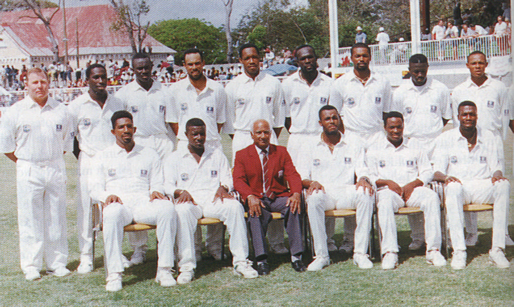 The West Indies team that beat England in the historic Fifth Test in Antigua. Photograph by Allan Aflak