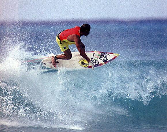 Puerto Rico's Juan Ashton at South Point, Barbados. Photograph by Dick Meseroll