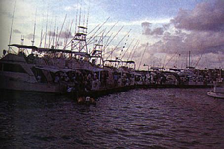 Boats from Curaçao, Bonaire and Venezuela gather for the Aruba Nautical Club's sailfish tournament. Photograph by Peter Tyson