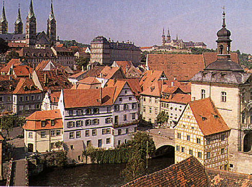 The city of Bamberg in Franconia. Photograph by Edmund Nägele Frps
