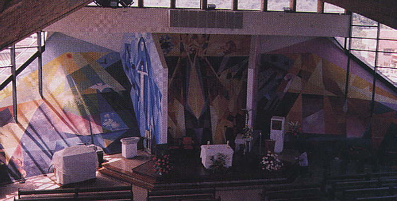 St. Omer's mural in the church of St Francois, Martinique (detail and full view). Photograph by Caroline Popovic