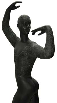 A wood sculpture by artist Luise Kimme. Photograph by Anton Modeste