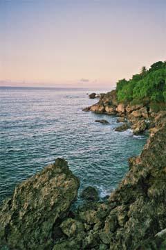 Tobago's terrain includes rugged coastlines... Photograph by Bertrand DePeaza