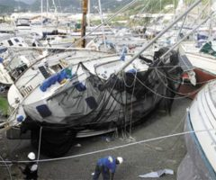 Damaged boats, one month after Ivan. Photograph by Roberta Parkin