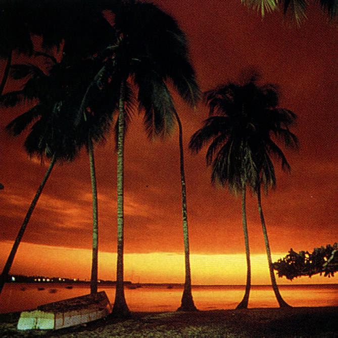 A Tobago pleasure: west coast sunset. Photograph by Allan Weisbecker