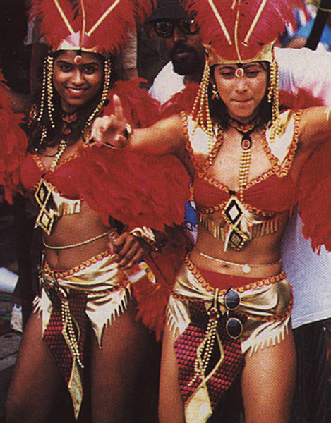 Women masqueraders outnumber men in Carnival five to one. Photograph by Sean Drakes