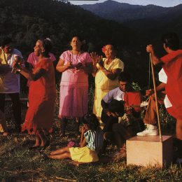 Trinidad's Christmas music is parang (sung by paranderos), Spanish-style music that calls for fancy steps and swinging hips. Photograph by Noel Norton