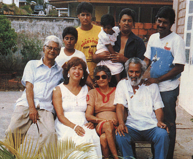 Selvon and family. Photograph by Ken Ramchand