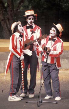 The Minstrel Boys performing a Viey la Cou. Photograph by Mark Lyndersay