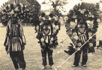 Fancy Indians of fifty years ago. Photograph from the Collection of Adrian Camps-Campins