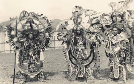 An Indian band of the 1930s. Photograph from the Collection of Adrian Camps-Campins